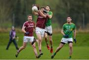15 January 2017; Michael Day of Galway in action against Damien Moran of Leitrim during the Connacht FBD League Section B Round 2 match between Leitrim and Galway at Sean O'Heslin Park in Ballinamore, Co Leitrim. Photo by Seb Daly/Sportsfile