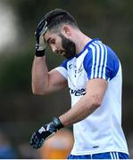15 January 2017; Neil McAdam of Monaghan shows his disappointment during the Bank of Ireland Dr. McKenna Cup Section B Round 2 match between Antrim and Monaghan at Glenavy in Co. Antrim. Picture Mark Marlow/Sportsfile
