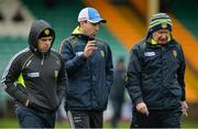 15 January 2017; Donegal manager Declan Boyle, right, with Garry Boyle, left, and selector Anthony McGrath during the Bank of Ireland Dr. McKenna Cup Section C Round 2 match between Donegal and Cavan at Pairc MacCumhaill in Ballybofey, Co Donegal. Photo by Oliver McVeigh/Sportsfile