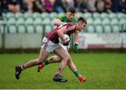 15 January 2017; Killian McDaid of Galway in action against James Rooney of Leitrim during the Connacht FBD League Section B Round 2 match between Leitrim and Galway at Sean O'Heslin Park in Ballinamore, Co Leitrim. Photo by Seb Daly/Sportsfile