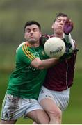 15 January 2017; Ronan Gallagher of Leitrim in action against Thomas Flynn of Galway during the Connacht FBD League Section B Round 2 match between Leitrim and Galway at Sean O'Heslin Park in Ballinamore, Co Leitrim. Photo by Seb Daly/Sportsfile
