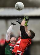 15 January 2017; Liam Irwin of Mayo in action against Scott Kilker of Sligo IT during the Connacht FBD League Section A Round 2 match between Mayo and Sligo IT at James Stephen's Park in Ballina, Co Mayo. Photo by David Maher/Sportsfile