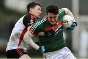 15 January 2017; Liam Irwin of Mayo in action against Philip Nielan of Sligo IT during the Connacht FBD League Section A Round 2 match between Mayo and Sligo IT at James Stephen's Park in Ballina, Co Mayo. Photo by David Maher/Sportsfile