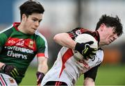 15 January 2017;  Andrew McClean of Sligo IT in action against Cian Costello of Mayo during the Connacht FBD League Section A Round 2 match between Mayo and Sligo IT at James Stephen's Park in Ballina, Co Mayo. Photo by David Maher/Sportsfile