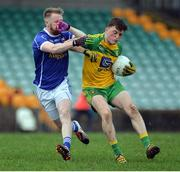 15 January 2017; Niall O'Donnell of Donegal in action against Christopher Conroy of Cavan during the Bank of Ireland Dr. McKenna Cup Section C Round 2 match between Donegal and Cavan at Pairc MacCumhaill in Ballybofey, Co Donegal. Photo by Oliver McVeigh/Sportsfile