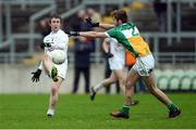15 January 2017; Ollie Lyons of Kildare in action against Adam Mahon of Offaly during the Bord na Mona O'Byrne Cup Group 2 Round 3 match between Offaly and Kildare at O'Connor Park in Tullamore, Co Offaly. Photo by Piaras Ó Mídheach/Sportsfile