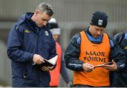 15 January 2017; Cavan manager Mattie McGleenan, left, during the Bank of Ireland Dr. McKenna Cup Section C Round 2 match between Donegal and Cavan at Pairc MacCumhaill in Ballybofey, Co Donegal. Photo by Oliver McVeigh/Sportsfile