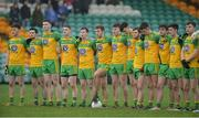 15 January 2017; Donegal players stand for the national anthem before the Bank of Ireland Dr. McKenna Cup Section C Round 2 match between Donegal and Cavan at Pairc MacCumhaill in Ballybofey, Co Donegal. Photo by Oliver McVeigh/Sportsfile