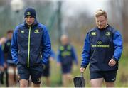 16 January 2017; Leinster backs coach Girvan Dempsey, left, and James Tracy arrive ahead of squad training at UCD in Belfield, Dublin.  Photo by Seb Daly/Sportsfile