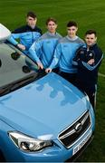17 January 2017; Dublin GAA today announced a new official car partnership with Subaru. Pictured are from left, Chris Crummey, Micheal Fitzsimons, Eoghan O'Donnell and Kevin McManamon at Parnell Park in Dublin. Photo by Sam Barnes/Sportsfile