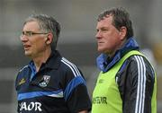 12 June 2011; Cavan co-managers Terry Hyland, right, and Val Andrews, during the match. Ulster GAA Football Senior Championship Quarter-Final, Cavan v Donegal, Kingspan Breffni Park, Co. Cavan. Picture credit: Brian Lawless / SPORTSFILE