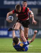 18 January 2017; Mark Braithwaite of Kilkenny College breaks through the tackle of Sam Murphy of Wilsons Hospital during the Bank of Ireland Vinnie Murray Cup Round 2 match between Kilkenny College and Wilsons Hospital at Donnybrook Stadium in Donnybrook, Dublin. Photo by Cody Glenn/Sportsfile
