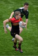 19 January 2017; Conor Newman of CBC Monkstown in action against James Curry of Tullow Community School during the Bank of Ireland Vinnie Murray Cup Round 2 match between CBC Monkstown and Tullow Community School at Donnybrook Stadium in Dublin. Photo by Piaras Ó Mídheach/Sportsfile