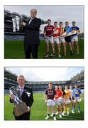 19 January 2017; Bord Gáis Energy were today announced as sponsors of the GAA Hurling All-Ireland Senior Championship. To celebrate the announcement, former Bord Gáis Energy ambassadors, from left, Galway star Joe Canning, Cork star Patrick Horgan, Kilkenny star Paul Murphy, Dublin star Liam Rushe, and Tipperary star Seamus Callinan were reunited to recreate the original shot captured when Bord Gáis Energy were revealed as title sponsors of the GAA Hurling U-21 All-Ireland Championship in 2009. Croke Park, Dublin. Photo by Cody Glenn/Sportsfile
