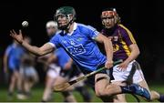 19 January 2017; Thomas Connolly of Dublin in action against Diarmuid O'Keeffe of Wexford during the Bord na Mona Walsh Cup match between Wexford and Dublin at Shelmaliers GAA in Hollymount, Co. Wexford. Photo by Matt Browne/Sportsfile