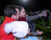 19 January 2017; Wexford manager Davy Fitzgerald gets his picture taken with Wexford supporters Grace O'Brien and Saoirse Banville after the Bord na Mona Walsh Cup match between Wexford and Dublin at Shelmaliers GAA in Hollymount, Co. Wexford. Photo by Matt Browne/Sportsfile
