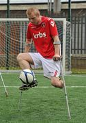18 June 2010; Paul Gale, from Swords, Co. Dublin, in action during Ireland's first amputee football club training session. Mountview Communinty Sports Centre, Clonsilla, Co. Dublin. Picture credit: Brendan Moran / SPORTSFILE