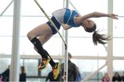 21 January 2017; Zoe Garrigan of St. Laurence O'Toole A.C., Co, Carlow competing in the girls U15 Pentathlon during the Irish Life Health National Indoor Combined Events Championships at AIT International Arena in Athlone, Co. Westmeath. Photo by Eóin Noonan/Sportsfile