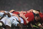 21 January 2017; Peter O'Mahony of Munster in action during a scrum during the European Rugby Champions Cup Pool 1 Round 6 match between Munster and Racing 92 at Thomond Park in Limerick. Photo by Diarmuid Greene/Sportsfile