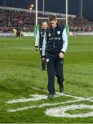 21 January 2017; Racing 92 defence coach Ronan O'Gara walks over the ten metre marking on the pitch ahead of the European Rugby Champions Cup Pool 1 Round 6 match between Munster and Racing 92 at Thomond Park in Limerick. Photo by Diarmuid Greene/Sportsfile