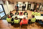 22 January 2017; Match stewards having tea ahead of the Bank of Ireland Dr. McKenna Cup semi-final match between Monaghan and Derry at Athletic Grounds in Armagh. Photo by Philip Fitzpatrick/Sportsfile