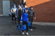 22 January 2017; The Monaghan team arriving for the Bank of Ireland Dr. McKenna Cup semi-final match between Monaghan and Derry at Athletic Grounds in Armagh. Photo by Philip Fitzpatrick/Sportsfile