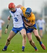 22 January 2017; Callum Lyons of Waterford in action against Bobby Duggan of Clare during the Co-Op Superstores Munster Senior Hurling League Round 4 match between Waterford and Clare at Fraher Field in Dungarvan, Co Waterford. Photo by Seb Daly/Sportsfile