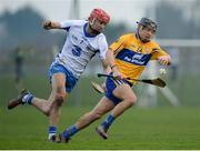 22 January 2017; David Reidy of Clare in action against Seamus Keating of Waterford during the Co-Op Superstores Munster Senior Hurling League Round 4 match between Waterford and Clare at Fraher Field in Dungarvan, Co Waterford. Photo by Seb Daly/Sportsfile