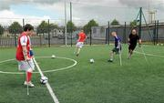 18 June 2010; A general view of players taking part in drills during Ireland's first amputee football club training session. Mountview Communinty Sports Centre, Clonsilla, Co. Dublin. Picture credit: Brendan Moran / SPORTSFILE