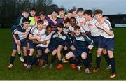 22 January 2017; The DDSL team celebrate after the SFAI Subway Championship National Final match between DDSL and Waterford at Cahir Park AFC in Cahir, Tipperary. Photo by Eóin Noonan/Sportsfile