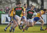 22 January 2017; Stephen Coen of Mayo during the Connacht FBD League Section A Round 3 match between Roscommon and Mayo at St. Brigids GAA in Kiltoom, Co. Roscommon.  Photo by Ramsey Cardy/Sportsfile