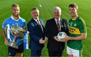 23 January 2017; In attendance at the 2017 Allianz Football League Launch in Croke Park are from left, Jonny Cooper of Dublin, Sean McGrath, CEO, Allianz Ireland, Uachtarán Chumann Lúthchleas Gael Aogán Ó Fearghail and Donnchadh Walsh of Kerry. Kerry face Donegal in the opening round of the Allianz Leagues while All-Ireland champions Dublin will begin their Allianz league defence against Cavan, both on February 5th at 2pm. Visit www.allianz.ie for more. Photo by Brendan Moran/Sportsfile
