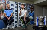 23 January 2017; Speaking at the 2017 Allianz Football League Launch in Croke Park is Donnchadh Walsh, right, of Kerry, in the company of Jonny Cooper of Dublin. Kerry face Donegal in the opening round of the Allianz Leagues while All-Ireland champions Dublin will begin their Allianz league defence against Cavan, both on February 5th at 2pm. Visit www.allianz.ie for more. Photo by Brendan Moran/Sportsfile