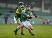 22 January 2017; Peter Casey of Limerick in action against Sean Nolan of Kerry during the Co-Op Superstores Munster Senior Hurling League Round 4 match between Limerick and Kerry at the Gaelic Grounds in Limerick. Photo by Diarmuid Greene/Sportsfile