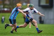 24 January 2017; Stephen Cahill of Mary Immaculate College Limerick in action against Liam Kelly of GMIT during the Independent.ie HE Fitzgibbon Cup Group A Round 1 match between Mary Immaculate College Limerick and GMIT at the MICL Grounds in Limerick. Photo by Diarmuid Greene/Sportsfile