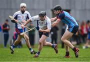 24 January 2017; Michael O'Neill of Mary Immaculate College Limerick in action against Richard Doyle of GMIT during the Independent.ie HE Fitzgibbon Cup Group A Round 1 match between Mary Immaculate College Limerick and GMIT at the MICL Grounds in Limerick. Photo by Diarmuid Greene/Sportsfile