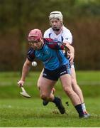 24 January 2017; Declan Cronin of GMIT in action against Cian Lynch of Mary Immaculate College Limerick during the Independent.ie HE Fitzgibbon Cup Group A Round 1 match between Mary Immaculate College Limerick and GMIT at the MICL Grounds in Limerick. Photo by Diarmuid Greene/Sportsfile