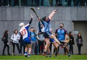24 January 2017; Darragh O'Donovan and Luke Meade of Mary Immaculate College Limerick in action against Richard Doyle and Cathal Reilly of GMIT during the Independent.ie HE Fitzgibbon Cup Group A Round 1 match between Mary Immaculate College Limerick and GMIT at the MICL Grounds in Limerick. Photo by Diarmuid Greene/Sportsfile