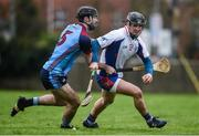 24 January 2017; Darragh O'Donovan of Mary Immaculate College Limerick in action against Cathal Reilly of GMIT during the Independent.ie HE Fitzgibbon Cup Group A Round 1 match between Mary Immaculate College Limerick and GMIT at the MICL Grounds in Limerick. Photo by Diarmuid Greene/Sportsfile