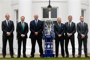 25 January 2017; Head Coaches, from left, Italy's Conor O'Shea, Ireland's Joe Schmidt, Scotland's Vern Cotter, England's Eddie Jones, France's Guy Noves and Wales' Rob Howley in attendance at the 2017 RBS Six Nations Rugby Championship Launch at The Hurlingham Club in London. Photo by Paul Harding/Sportsfile