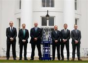 25 January 2017; Head Coaches, form left, Italy's Conor O'Shea, Ireland's Joe Schmidt, Scotland's Vern Cotter, England's Eddie Jones, France's Guy Noves and Wales' Rob Howley in attendance at the 2017 RBS Six Nations Rugby Championship Launch at The Hurlingham Club in London. Photo Paul Harding/Sportsfile