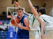 25 January 2017; Aaron Kiernan of St Josephs Bish Galway in action against Conor Ryan of St Malachy's College during the Subway All-Ireland Schools U16A Boys Cup Final match between St Joes Bish and St Malachys College at the National Basketball Arena in Tallaght, Co Dublin. Photo by Eóin Noonan/Sportsfile