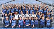 21 June 2011; Ulster Bank GAA stars, from left, Craig Dias, Rory O'Carroll, Michael Fennelly and John Gardnier pictured welcoming pupils, from Holy Family Primary School, Magherafelt, Co. Derry, to Croke Park as part of the Ulster Bank/Irish News competition where five lucky classes won a school trip of a lifetime which included a tour of the famous Croke Park Stadium while also meeting some of the biggest GAA stars in the country. Croke Park, Dublin. Picture credit: Barry Cregg / SPORTSFILE
