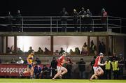 25 January 2017; A general view of the press box and sideline during the Co-Op Superstores Munster Senior Hurling League Round 5 match between Clare and Cork at O'Garney Park in Sixmilebridge, Co Clare. Photo by Diarmuid Greene/Sportsfile