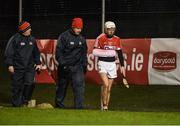 25 January 2017; Luke Meade of Cork leaves the pitch after picking up an injury during the first half of the Co-Op Superstores Munster Senior Hurling League Round 5 match between Clare and Cork at O'Garney Park in Sixmilebridge, Co Clare. Photo by Diarmuid Greene/Sportsfile