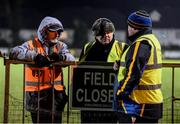 25 January 2017; Stewards Tom Doran, Christy Murray, Tom Keogh before the Co-Op Superstores Munster Senior Hurling League Round 5 match between Clare and Cork at O'Garney Park in Sixmilebridge, Co Clare. Photo by Diarmuid Greene/Sportsfile