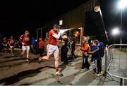 25 January 2017; Cork players including Conor Lehane make their way out for the second half of the Co-Op Superstores Munster Senior Hurling League Round 5 match between Clare and Cork at O'Garney Park in Sixmilebridge, Co Clare. Photo by Diarmuid Greene/Sportsfile