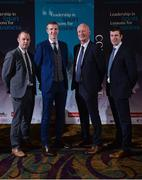 26 January 2017; 'Leadership in Sport. Lessons for Business' networking event, in association with Newstalk, took place today at the Intercontinental Hotel in Dublin, and was attended by almost 500 business people from across corporate Ireland. The first of its kind, the networking event, which will be replicated in both New York and London later this year, was targeted specifically at those striving to build high performance teams in business. The event broughttogether a number of the country's leading sports and business people, who shared their perspectives and discussed their focus, passion and drive, as well as the attributesthey deem necessary in order to achieve success and importantly to repeat that success. Pictured are, from left, former Kilkenny hurlers Tommy Walsh, and Henry Shefflin, Kilkenny senior hurling manager Brian Cody, and former Kilkenny hurler Michael Rice, at the Intercontinental Hotel, Dublin. Photo by Seb Daly/Sportsfile