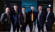 26 January 2017; 'Leadership in Sport. Lessons for Business' networking event, in association with Newstalk, took place today at the Intercontinental Hotel in Dublin, and was attended by almost 500 business people from across corporate Ireland. The first of its kind, the networking event, which will be replicated in both New York and London later this year, was targeted specifically at those striving to build high performance teams in business. The event broughttogether a number of the country's leading sports and business people, who shared their perspectives and discussed their focus, passion and drive, as well as the attributesthey deem necessary in order to achieve success and importantly to repeat that success. Pictured are, from left, former Kilkenny hurlers Tommy Walsh, and Henry Shefflin, Rossa White, Chief Economist, NTMA, Bobby Kerr, Newstalk broadcaster, Kilkenny senior hurling manager Brian Cody, and former Kilkenny hurler Michael Rice, at the Intercontinental Hotel, Dublin. Photo by Seb Daly/Sportsfile