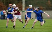 28 January 2017; Diarmuid Ryan of Our Lady's Templemore in action against Nenagh CBS players, from left, Bryan McLoughney, Craig Morgan and Jerome Cahill during the Dr. Harty Cup Semi-final match between Our Lady's Templemore and Nenagh CBS at Toomevara in Co. Tipperary. Photo by Piaras Ó Mídheach/Sportsfile